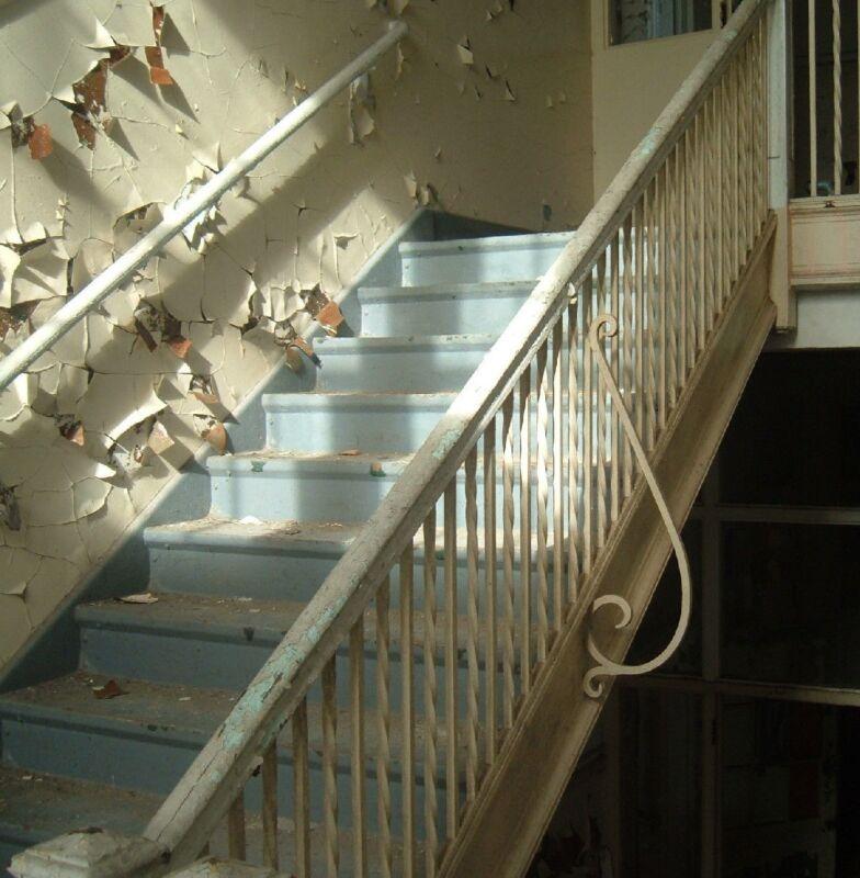 Wought iron stair railing pine cap, Greenbrier High School, Ronceverte, WV Lot 3