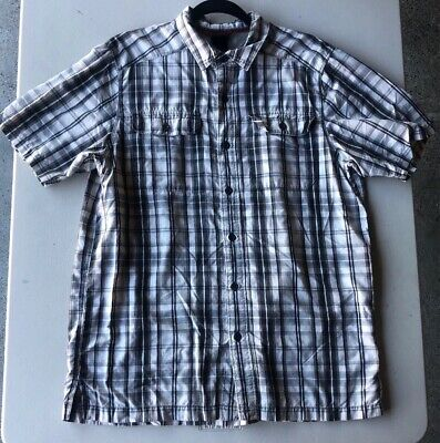 Men's The North Face Short Sleeve Button Front Plaid Shirt Pre-Owned Size L