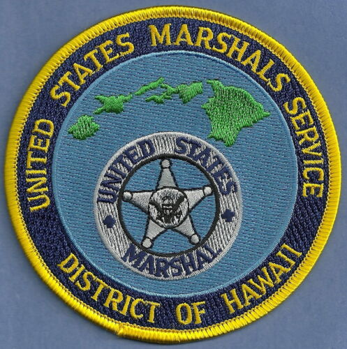 UNITED STATES MARSHAL SERVICE HAWAII SHOULDER PATCH