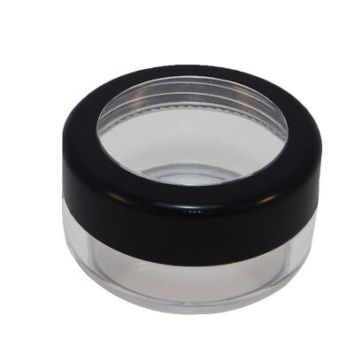 25/50/100 Wholesale 40g Plastic Clear Jar With Black Rim Acrylic Lid Container