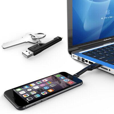 KiDiGi Negro Caballero Llavero USB Cable Cargador Para Apple IPHONE 7 6s Plus 5