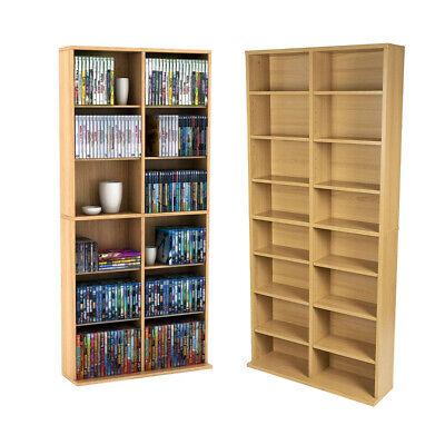 DVD Storage Rack Organizer Wall Cabinet CD VHS Blu-Ray Media Large Tower Shelf Wall Cd Storage Rack