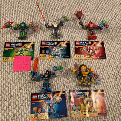Lego 70362 70363 70364 70365 70366 Nexo Knights Battle Suits Macy Axl Clay Lance
