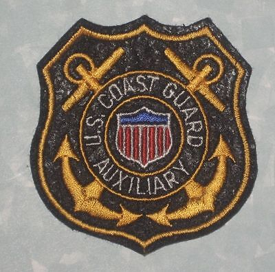 """US Coast Guard Auxiliary Patch - 2 5/8"""" x 3 1/8"""""""