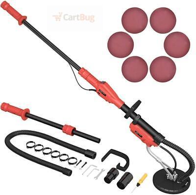 Drywall Sander Vacuum Speed Light Machine Sanding Pad Handle Wall Adjustable New