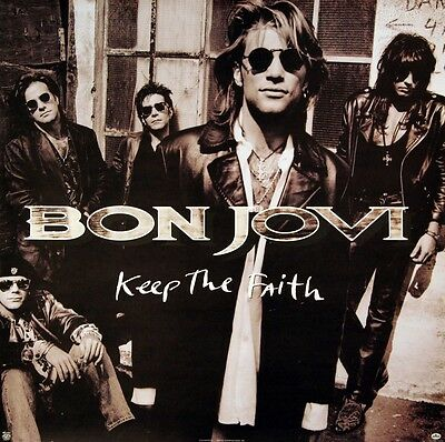 BON JOVI 1992 KEEP THE FAITH DOUBLE PROMO POSTER ORIGINAL