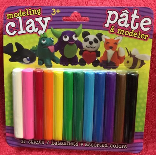 "Modeling Clay Set for Kids - 12 Colors 3"" Sticks Mold Arts C"