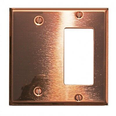 - Switchplate Bright Solid Copper GFI/Blank | Renovator's Supply