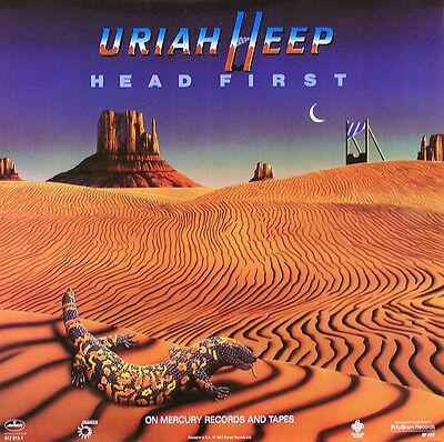 URIAH HEEP 1983 HEAD FIRST PROMO POSTER ORIGINAL