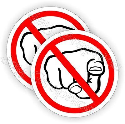 Hard Hat Stickers No Finger Pointing Motorcycle Welding Helmet Funny Decals