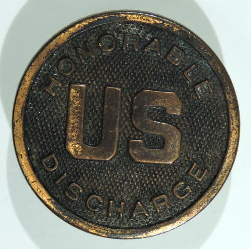 WWI US Honorable Discharge Collar Disc