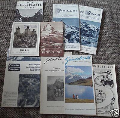 9x Schweiz Grindelwald Zermatt Scheidegg Prospekt Reiseprospekt Reisebroschüre L