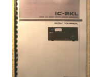 Premium Card Stock Covers /& 32lb Paper! Icom IC-725 Instruction Manual