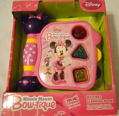 Discovery Toys Educational Learning Book Disney Minnie Mouse Girl