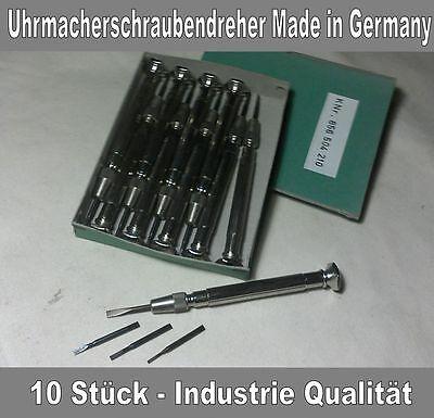 Uhrmacher Reparatur Werkzeug, Schraubendreher, Schraubenzieher, 10 Stück OVP