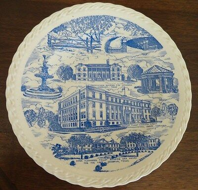 Vintage Supreme Forest Woodmen Circle  Blue & White Transferware Plate - USA