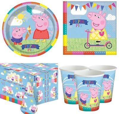 Peppa Pig / Peppa Wutz - Party Deko Set Kindergeburtstag für 8 Kinder