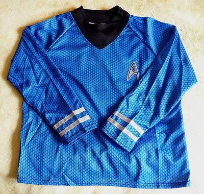 Official Deluxe Blue Star Trek Shirt With Pants Spock (Kids Size M 8-10) (Childrens Star Trek Costumes)
