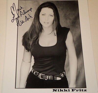NIKKI FRITZ /  8 X 10  B&W  AUTOGRAPHED  PHOTO