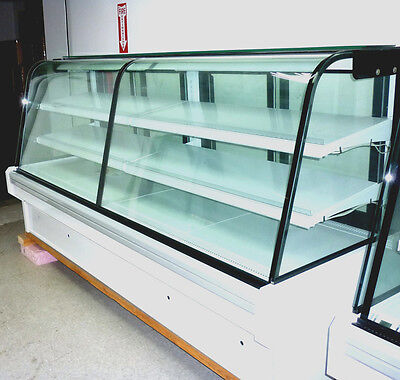 Curved Glass Deli Bakery Display Case Refrigerated Dry