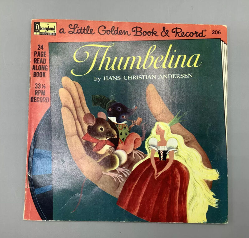 """Read Along Book and Record """"Thumbelina"""" / 33 1/3 RPM /#206"""