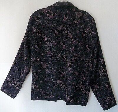Reversible Chenille Jacket (Gorgeous Purple Reversible Jacket Sz M Coldwater Creek Chenille Tapestry Glimmer )