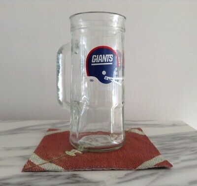 - Vintage/Collectible NEW YORK GIANTS Glass Cup Mug, Fisher Nuts Promo, 1980's