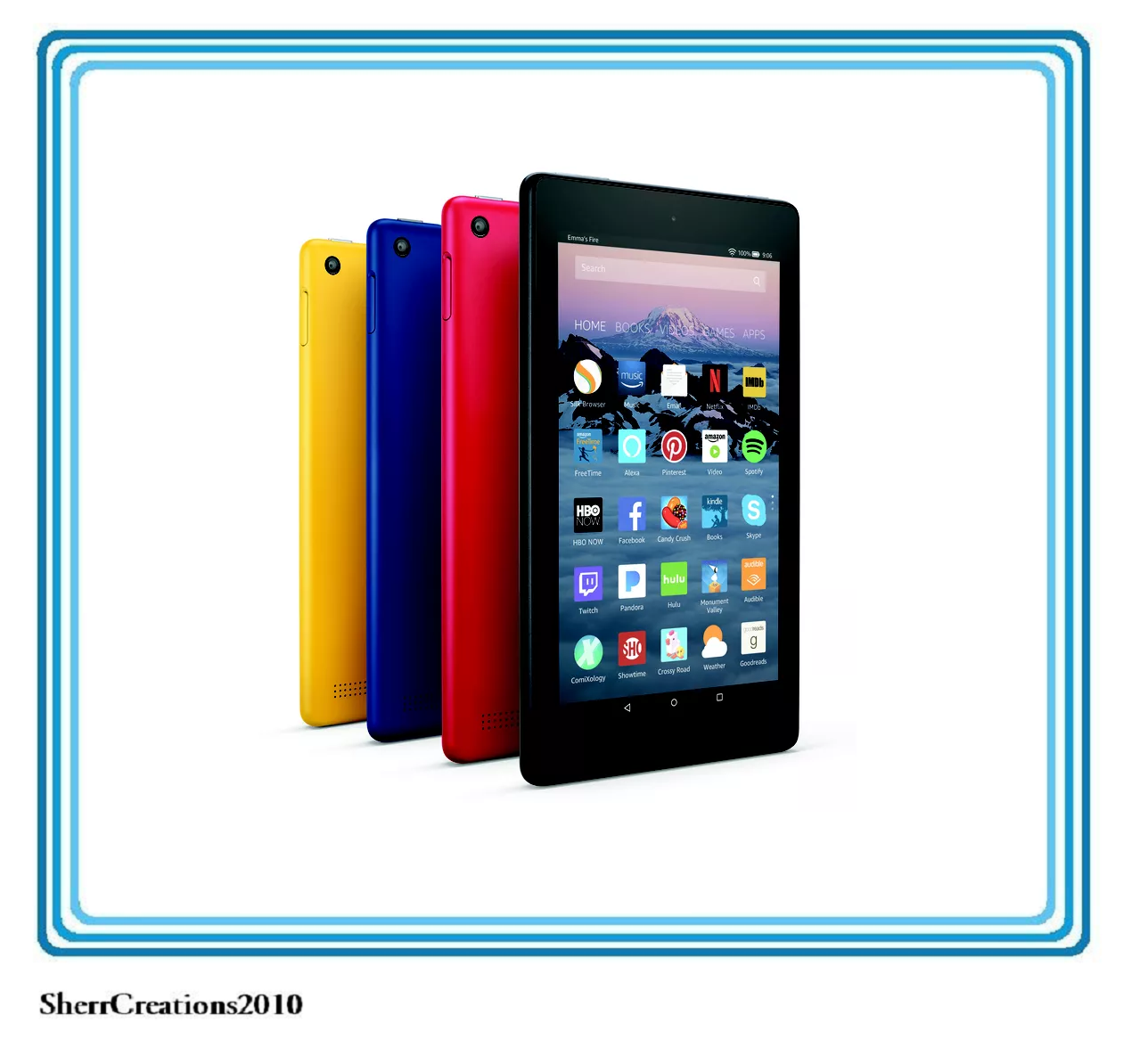 """NIB Amazon Fire HD 8 Tablet With Alexa 8"""" HD Display 16 GB With Special Offers"""