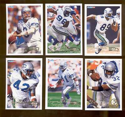 1994 Fleer Seattle Seahawks Set Cortez Kennedy Rick Mirer Brian Blades Warren