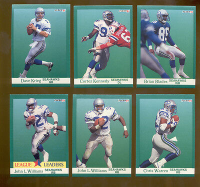1991 Fleer Seattle Seahawks Set Cortez Kennedy Chris Warren Brian Blades Krieg