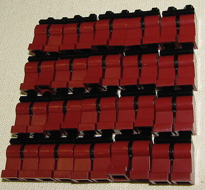 LEGO LOT OF 20 NEW DARK RED MINIFIGURE LEGS WITH BLACK HIPS PIECES