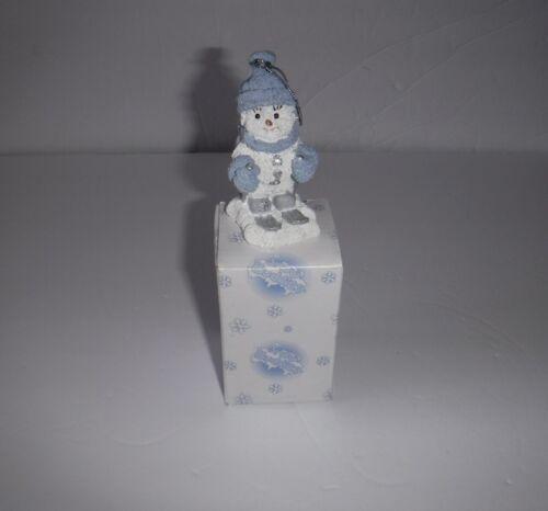 NIB 1999 Snow Buddies The Skier Snowman Christmas Ornament Encore Group