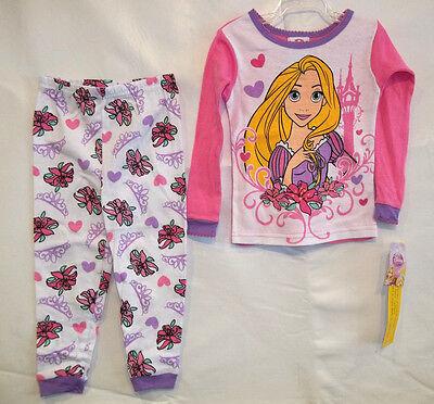 DISNEY PRINCESS RAPUNZEL  INFANT TODDLER  2pc  PAJAMA SET  (pink)