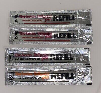 Pilot Refill For Model Bp-s The Better Ballpoint Pen - Lot Of 4
