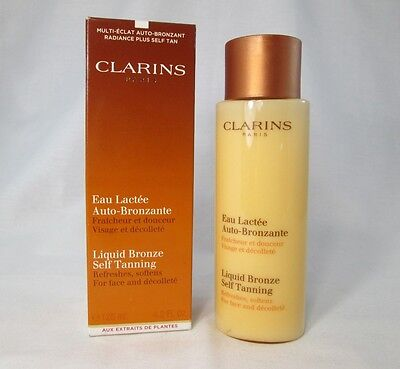 Clarins Liquid Bronze Self Tanning ~ 4.2 oz ~ BNIB