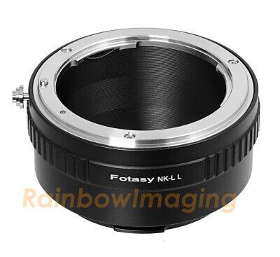 Nikon Lens to Leica L Mount Adapter fits Sigma fp Mirrorless camera
