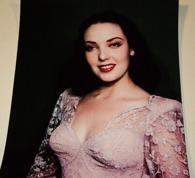 LINDA DARNELL /  BUSTY  8 X 10  COLOR  PHOTO