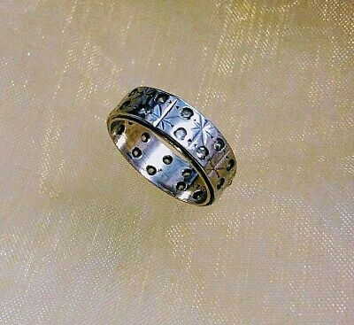 1940s Jewelry Styles and History Ring Band Silver 925 & 9CT  Original 1940s Stacking Ring Size K 1/2  (1549J) $66.46 AT vintagedancer.com