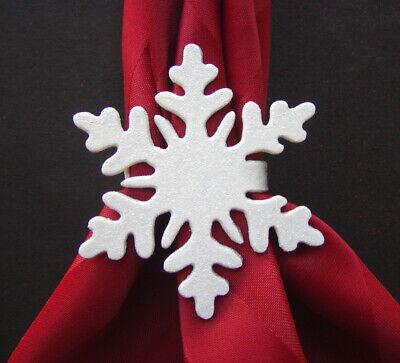 Snowflake Napkin Rings (Snowflake Napkin Rings (Set of Four) Christmas Metal White)