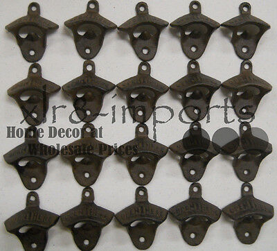 25 Rustic Cast Iron OPEN HERE Wall Mounted Beer Bottle Opener Soda
