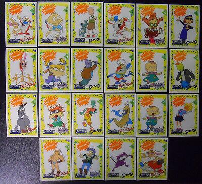 VINTAGE! COMPLETE SET! 1992 Capri Sun Nicktoons #1-22 Decal Card Set-Nickelodeon