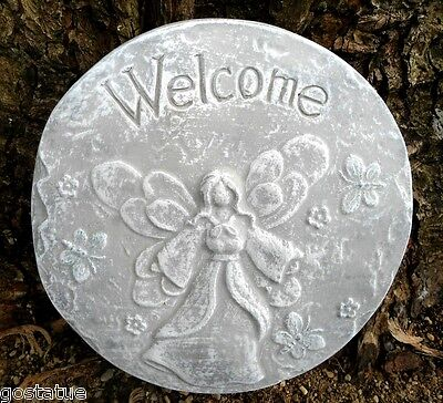 abs plastic angel welcome stepping stone plaster concrete mold