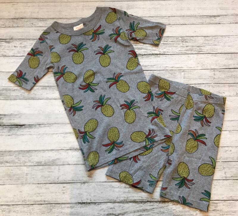 Hanna Andersson Gray Pineapple Pajamas Short Johns 140 Cm 10 Y
