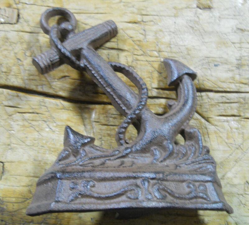 Cast Iron NAUTICAL ANCHOR Doorstop Garden Statue Home Decor Book End