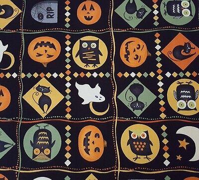 Scaredy Cats BTY Debbie Mumm Wilmington Prints Halloween Moon Owl Pumpkin Plaid](Wilmington Halloween)