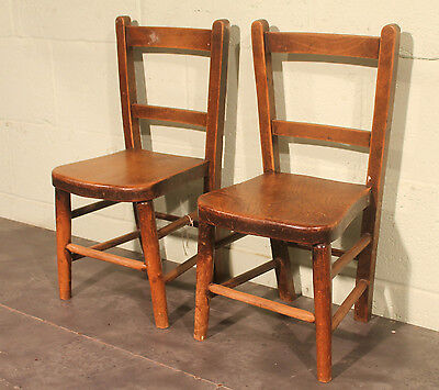 Reclaimed Victorian Elm Wooden Childrens Chairs  |  Warwick Reclamation
