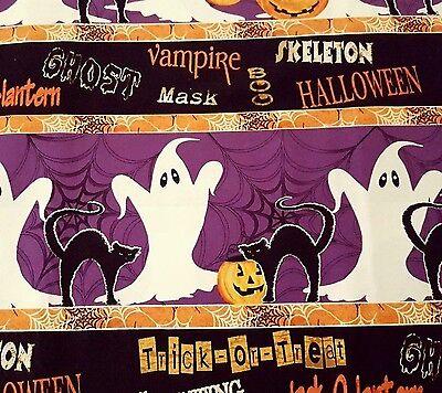 Spooky Spectacular GP Creations Wilmington Prints BTY Halloween Ghost Stripe](Wilmington Halloween)