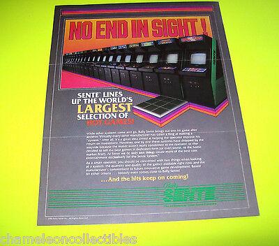 BALLY SENTE By MIDWAY 1986 ORIGINAL VIDEO ARCADE GAME SALES FLYER BROCHURE
