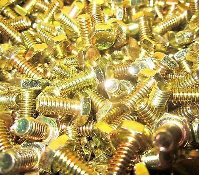 280 Piece 516 38 Grade 8 Assortment Bolts Nuts Flat Washers Yellow Zinc