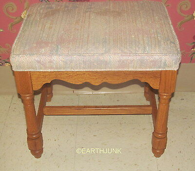 Used, Ethan Allen Canterbury Oak Sofa Table or Vanity Upholstered Bench 28 7834 for sale  Sargent